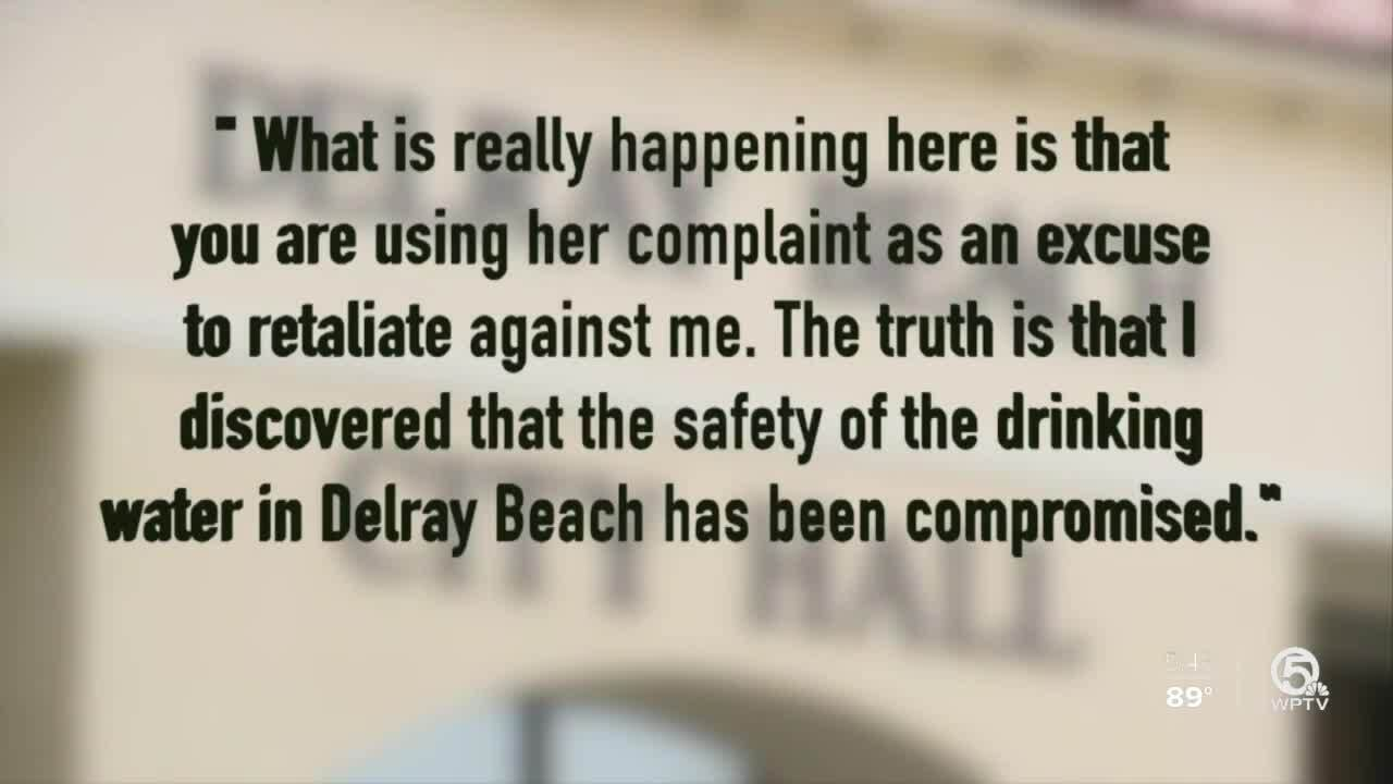 '...safety of the drinking water in Delray Beach has been compromised'