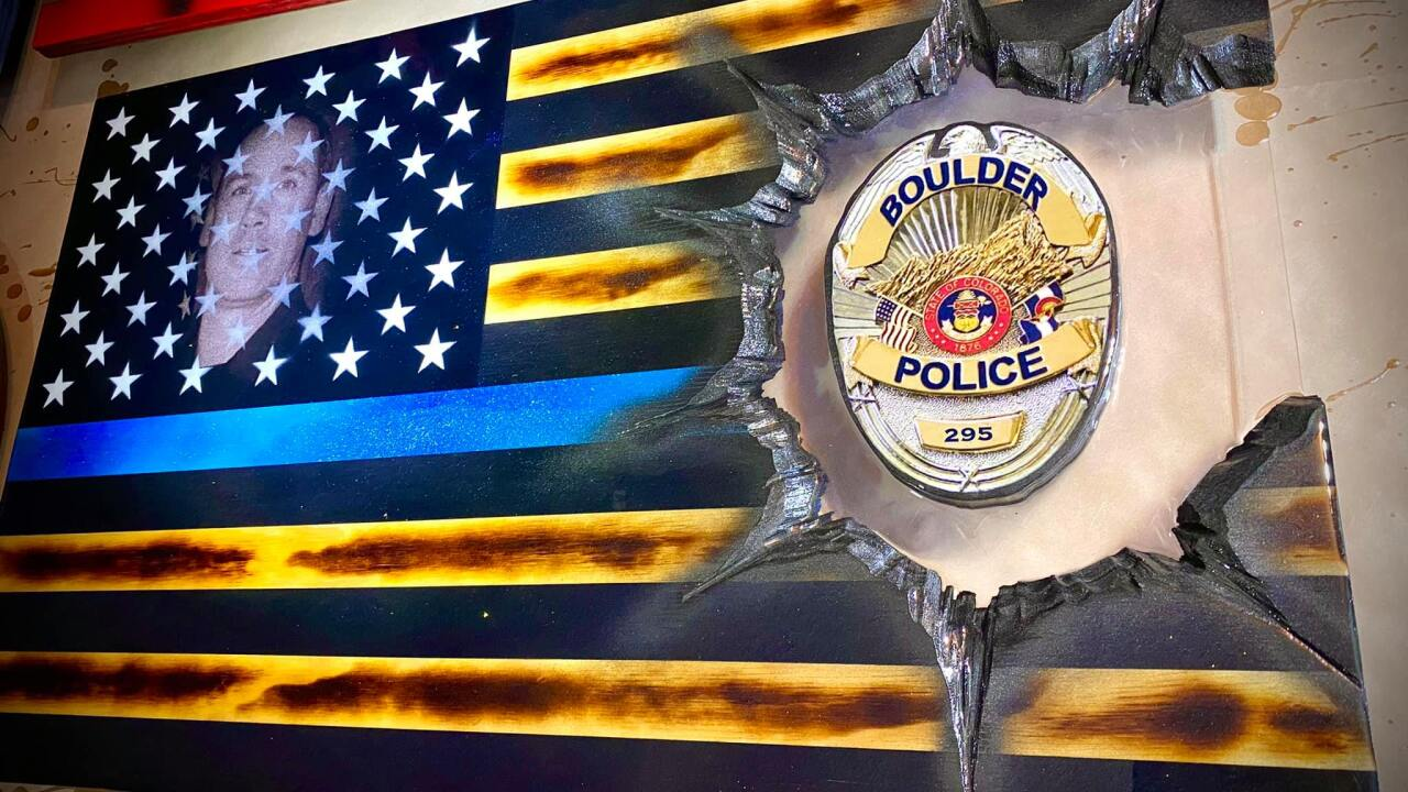 Officer Eric Talley American Flag