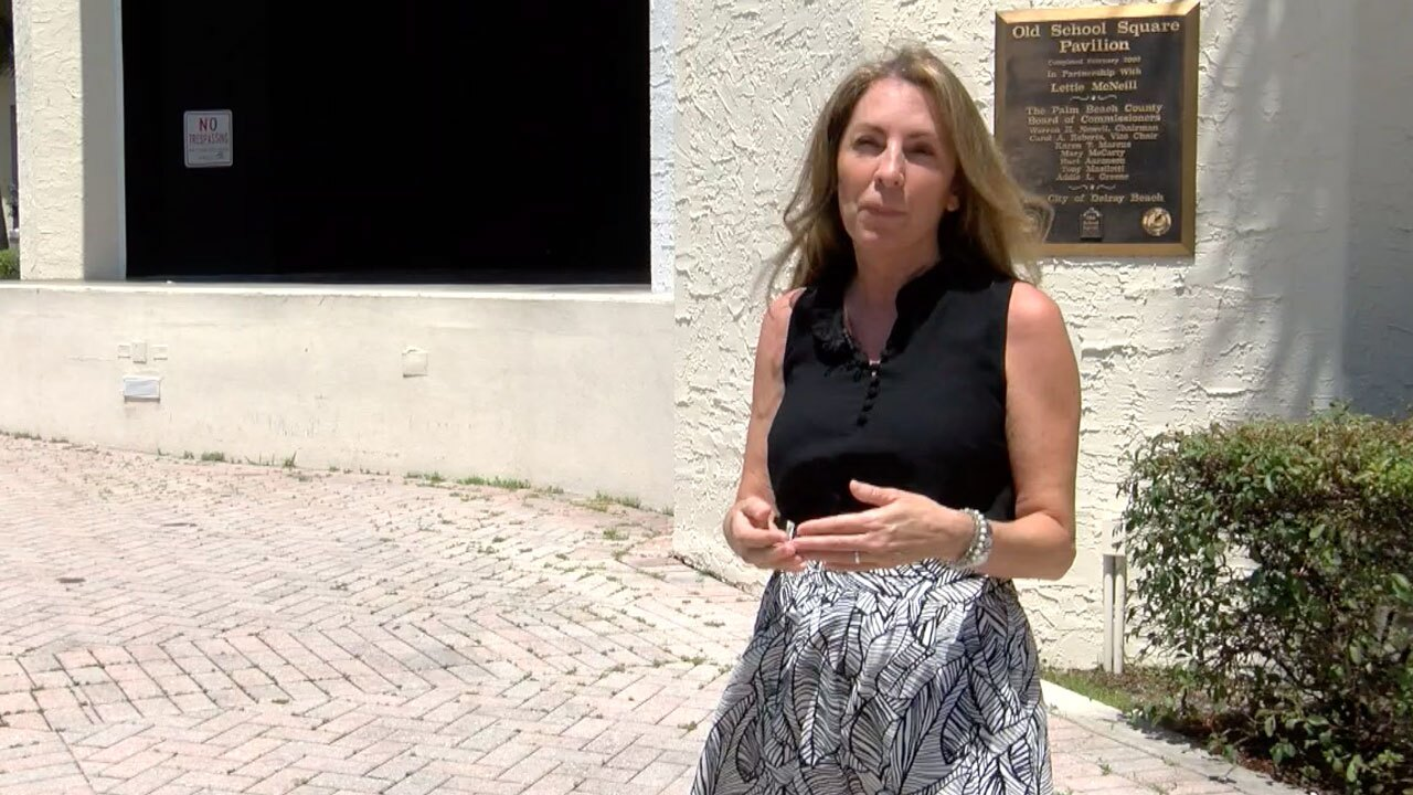 Delray Beach Commissioner Juli Casale speaks about Old School Square