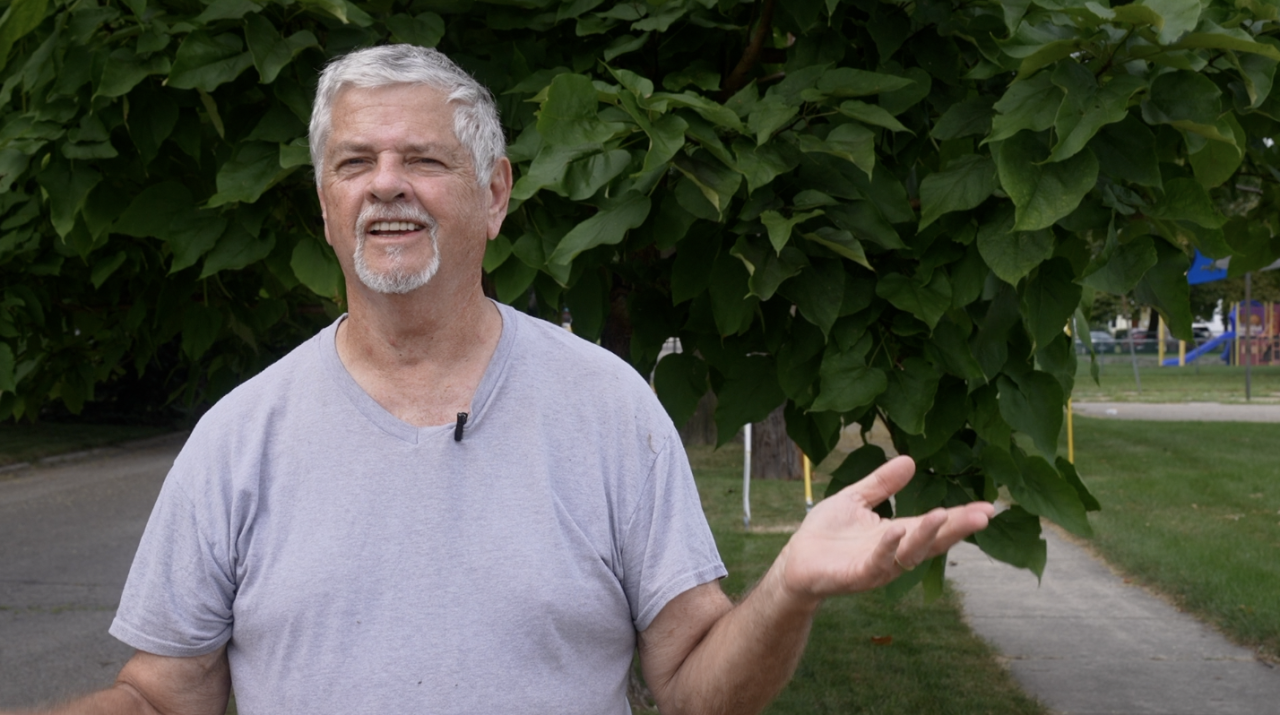 James Logan has lived across from the plant for 40 years