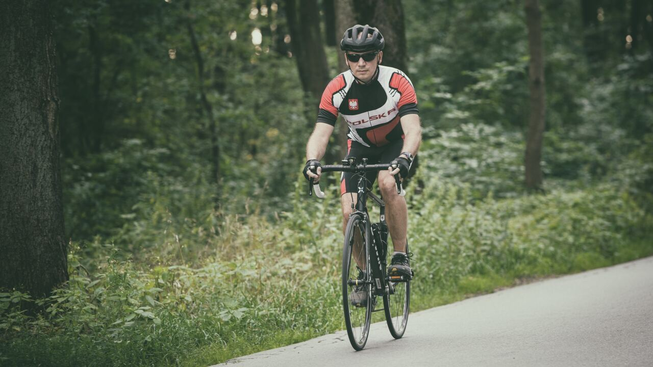 man bike riding