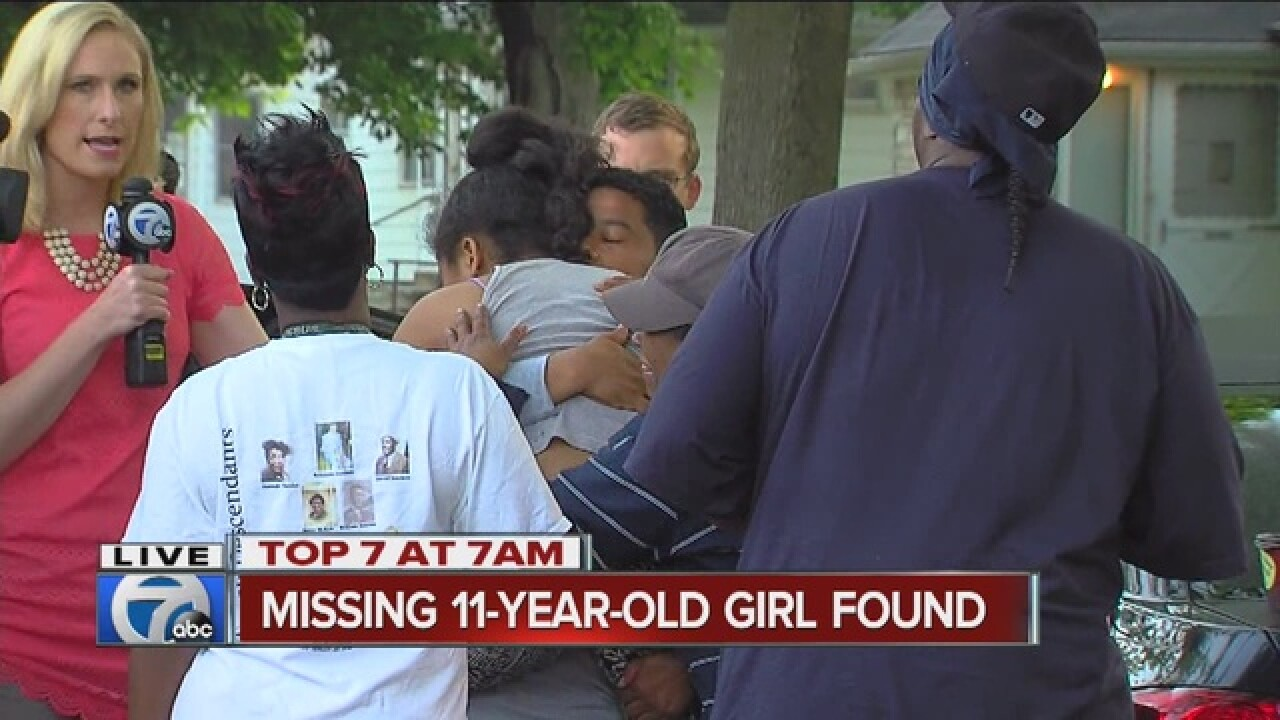 VIDEO: Hazel Park girl reunited with family
