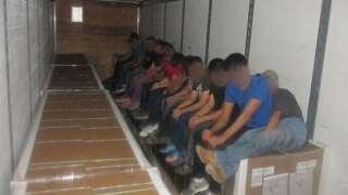 Twelve immigrants found inside tractor trailer