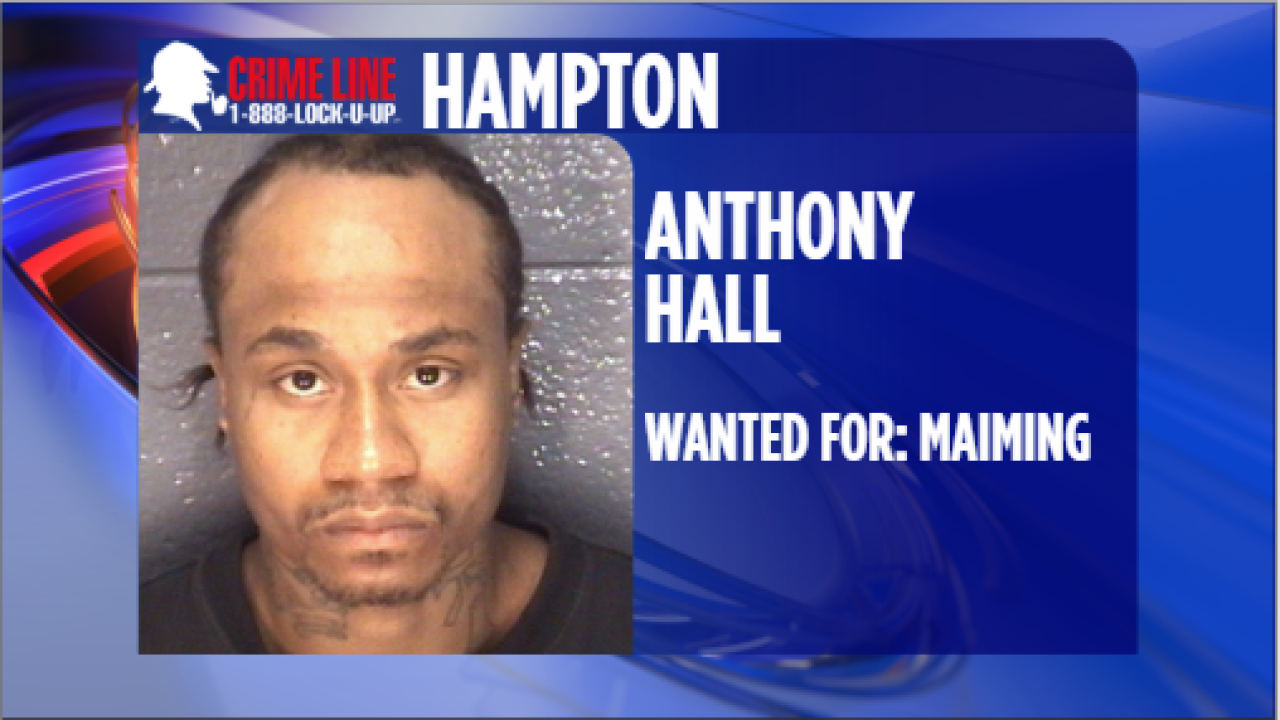 Hampton Police trying to find suspect wanted for maiming