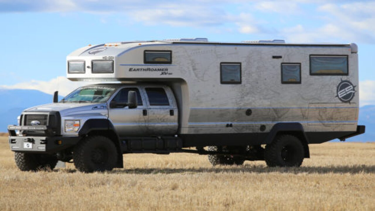 This $1.7 Million Off-road Camper Van Built On A Ford F-750 Can Sleep 6 People
