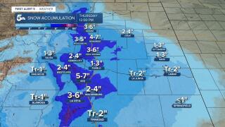 Snow Accumulation 2/24 - 2/25