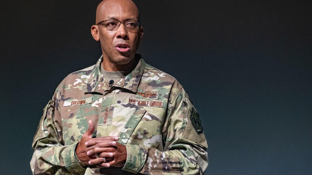Air Force Chief of Staff Gen. Charles Q. Brown, Jr. talks at Air University