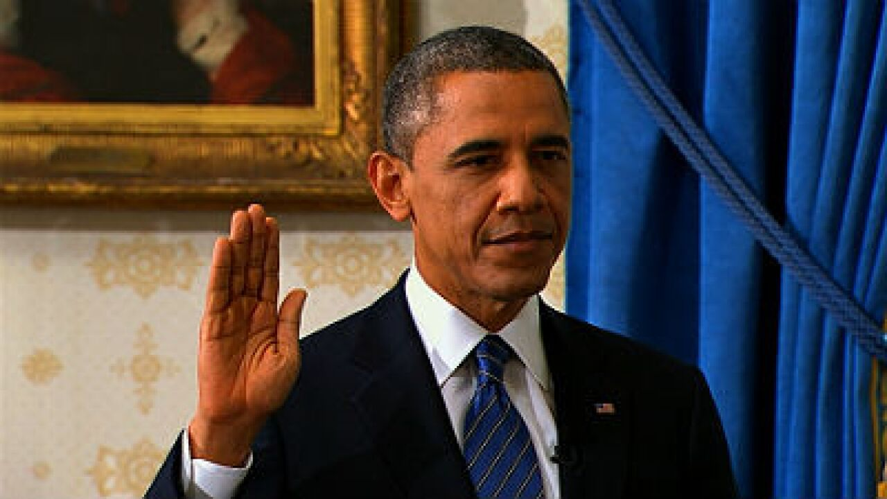 President Obama officially sworn in for second term