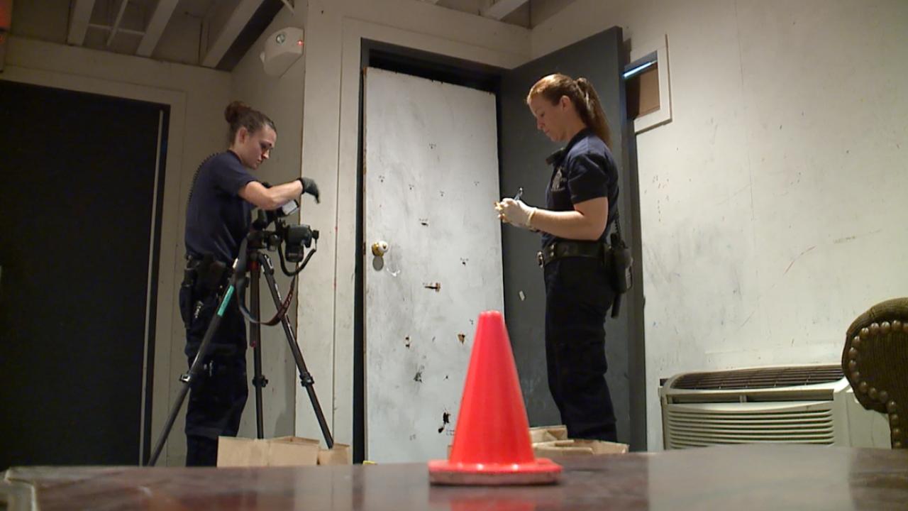 KCPD mock crime scene