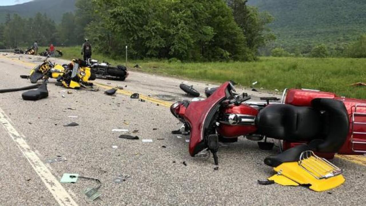 A biker survived the motorcycle crash that killed 7. 'It was just all fire,' she says
