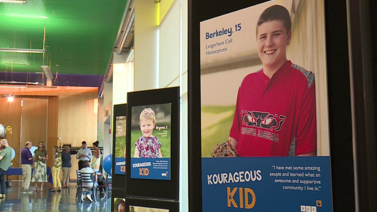 Kids kicking childhood cancer honored with portraits in Virginiaexhibit