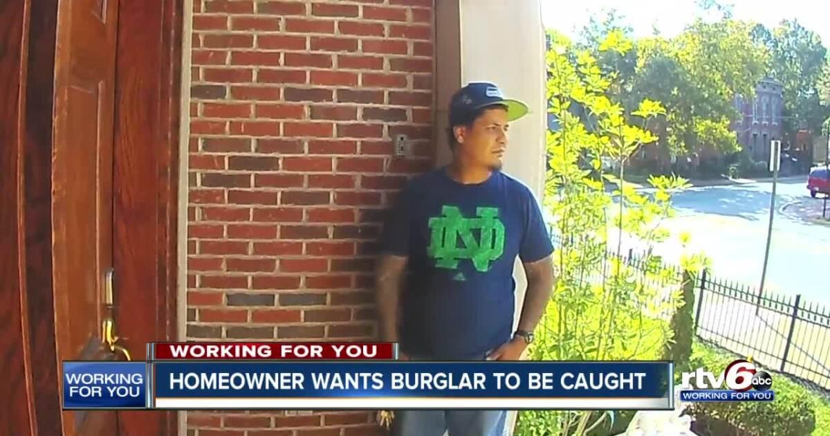 Indianapolis man looking for burglar caught on camera