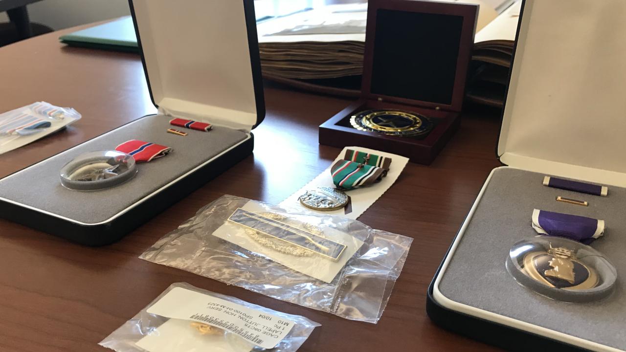 Lt. Jack Mulder Medals