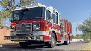Tucson Fire Department heads out on a call