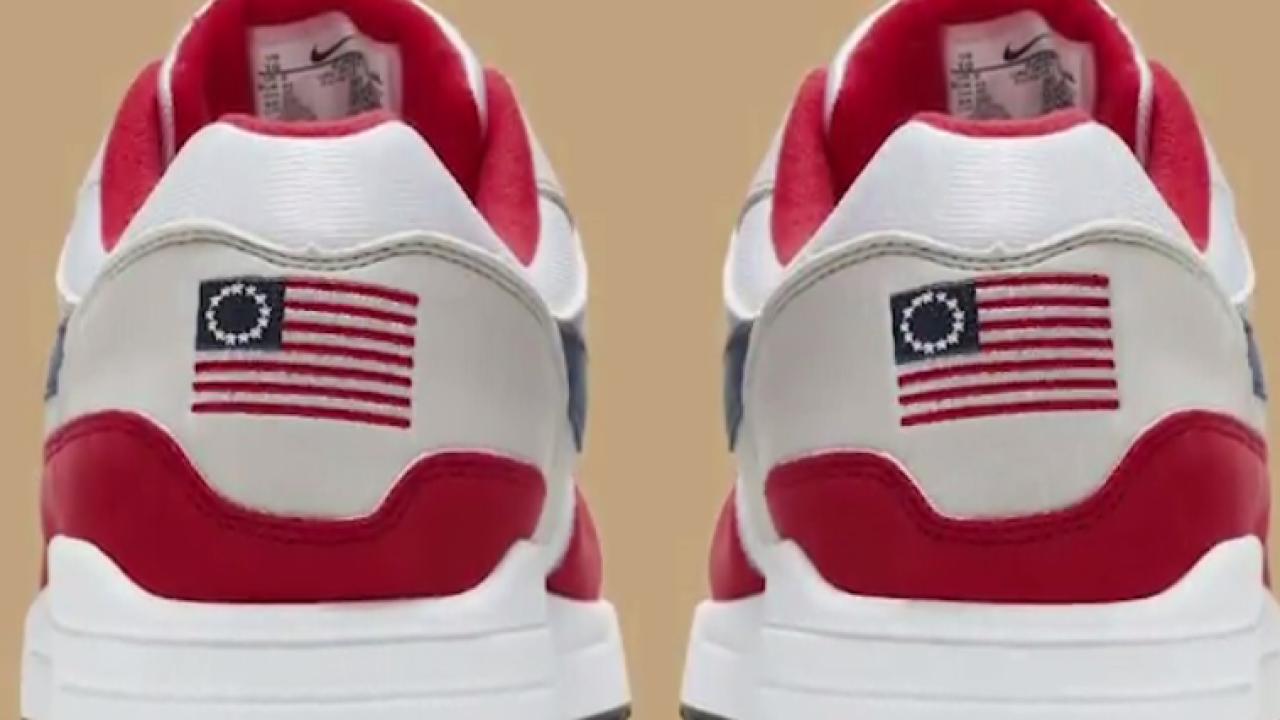Kolin Kaepernick Betsy Ross sneakers