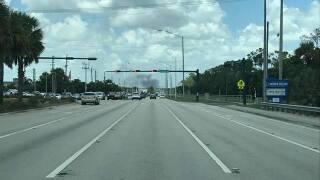 Brush fire near Veterans Memorial Elementary School in Naples