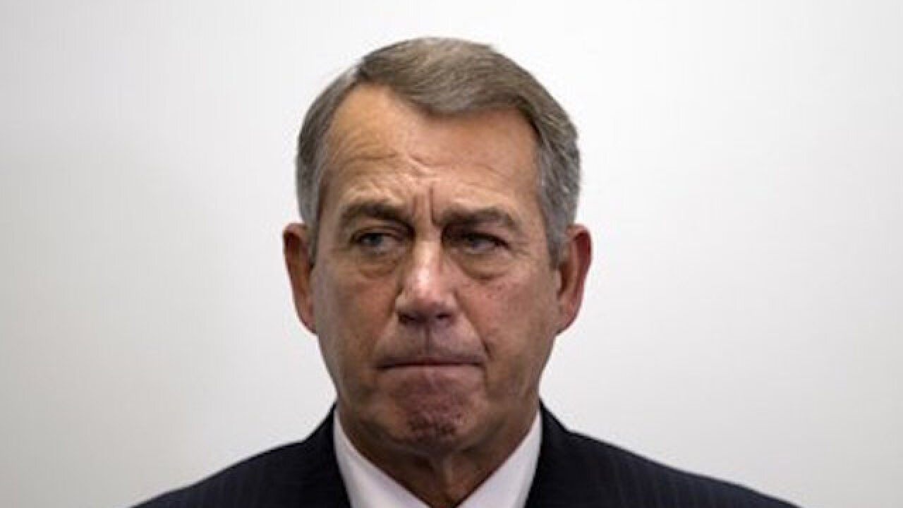 John Boehner: 'Thank God I'm not in the middle of this'