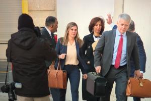 Pugh arrives for sentencing