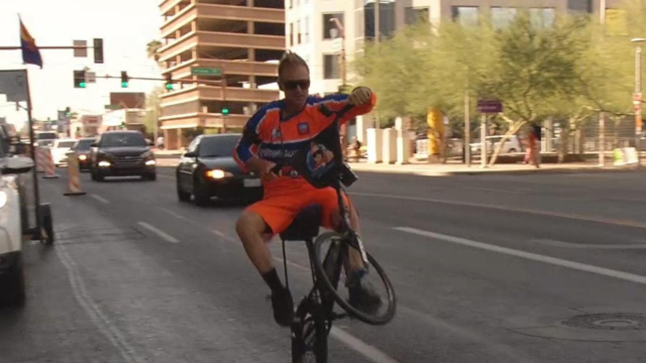 World Record Holder Wheelies Through Tucson