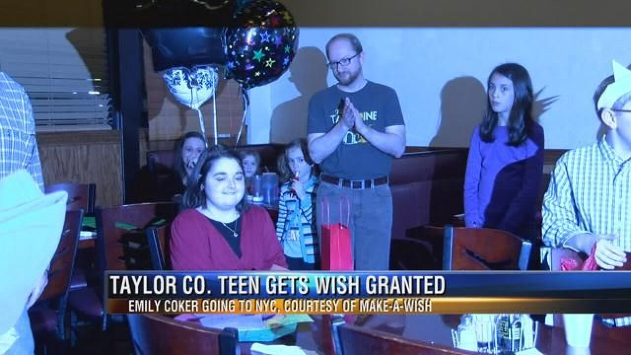 Taylor County Teenager Gets Wish Granted