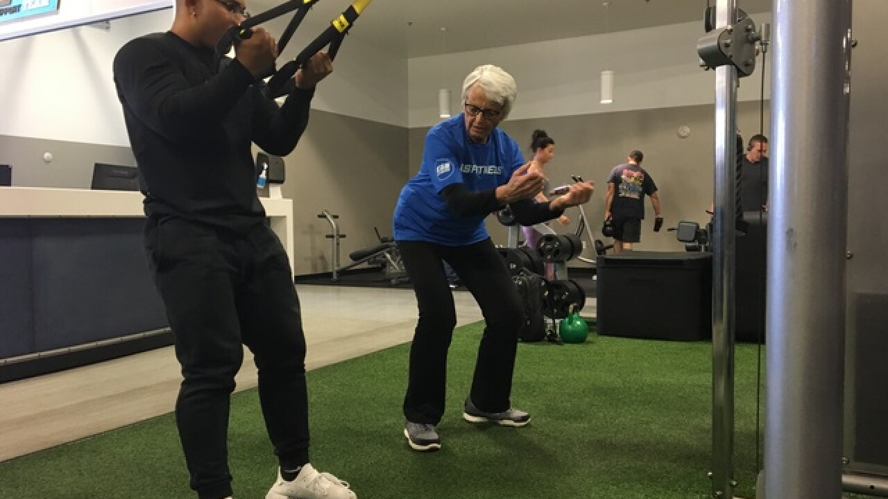 86-year-old Olympian, now personal trainer