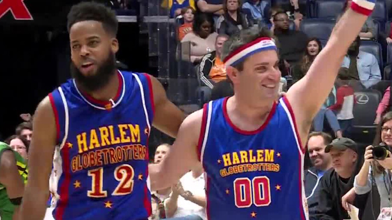 Henry Plays With The Harlem Globetrotters