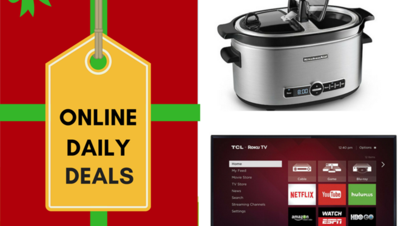 Holiday deals of the day include $120 off TV, $50 off Kitchenaid