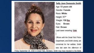 GFPD issues a missing person alert for Sally Demarais-Smith