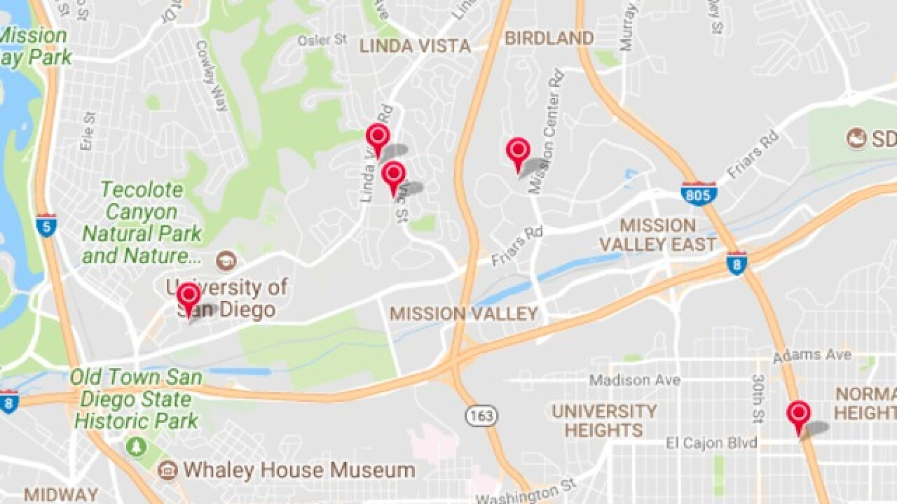 Nearly 1,500 left without power in Mission Valley, Linda Vista on xcel energy power outage map, pepco power outage map, pse power outage map, ppl power outage map, puget sound energy power outage map, smud power outage map, dte power outage map, aps power outage map, psnh power outage map, pg&e power outage map, austin energy power outage map, avista power outage map,