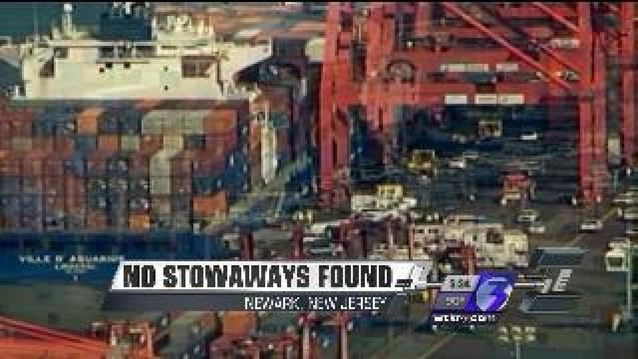 No stowaways found aboard cargo ship