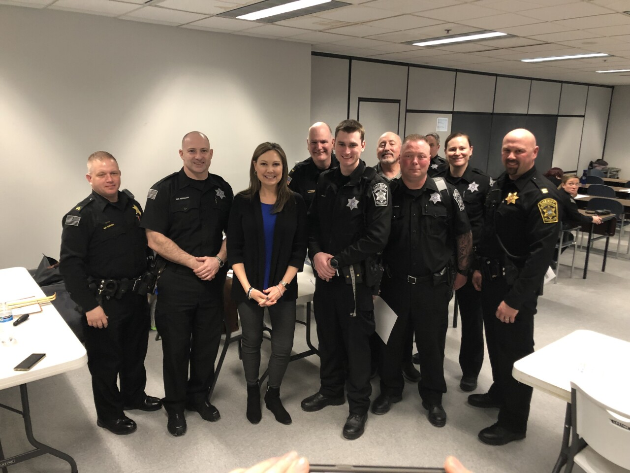 Kim with Ozaukee Sheriffs.JPG