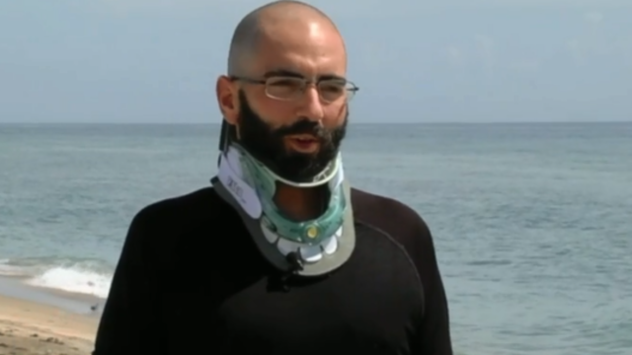 Man who injured his neck diving into ocean now raising awareness about diving safety