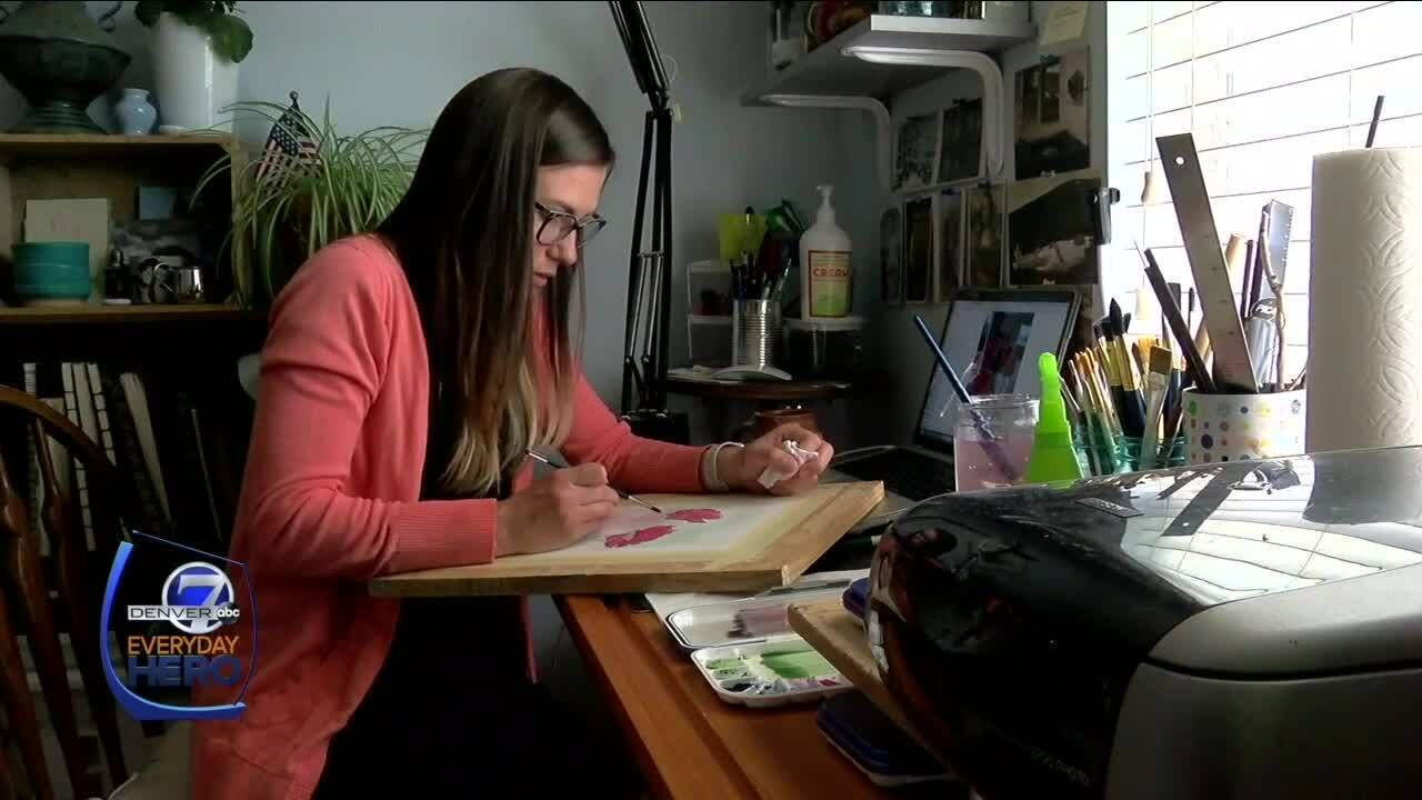 Lauren Anderson_paints flowers for people in hospital rooms