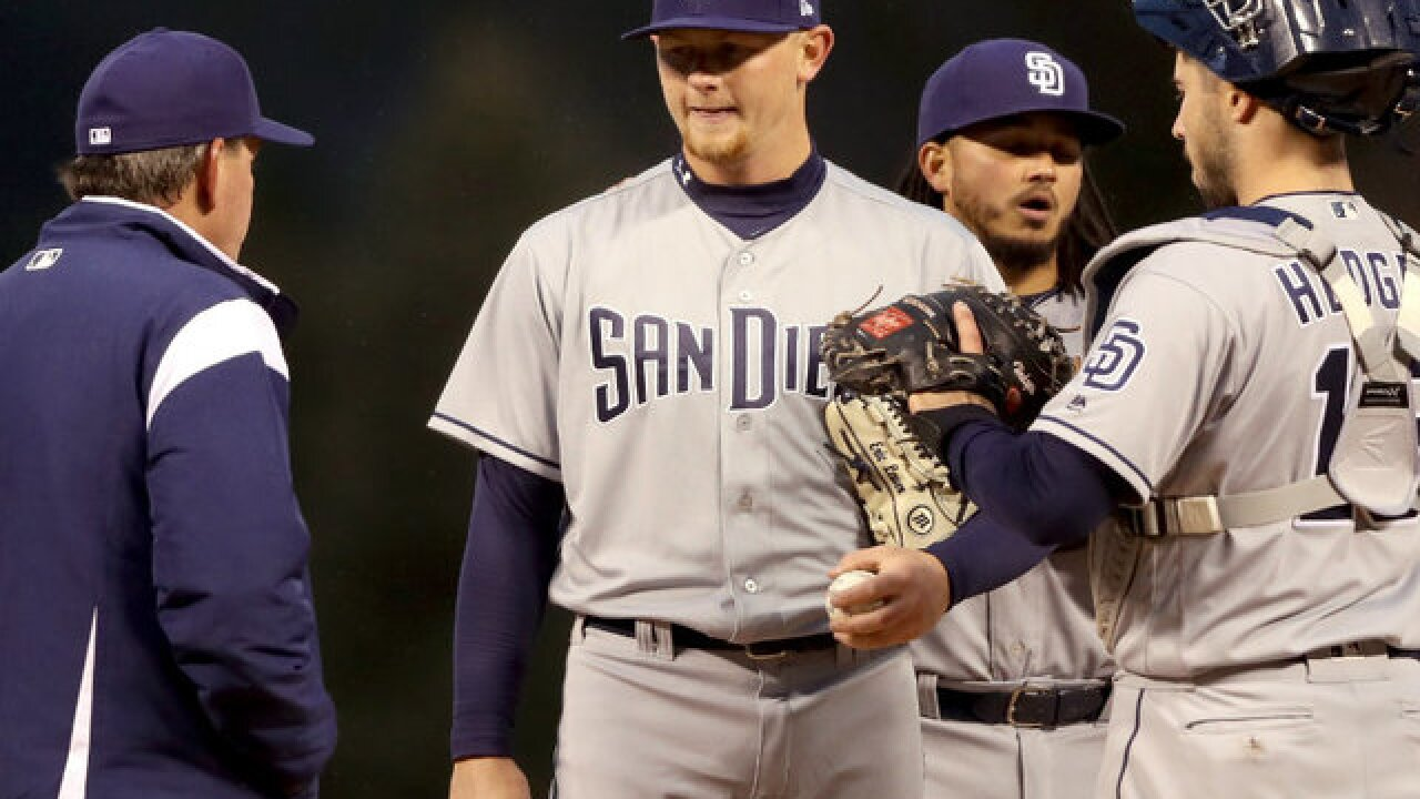 Padres rookie Eric Lauer roughed up in MLB debut