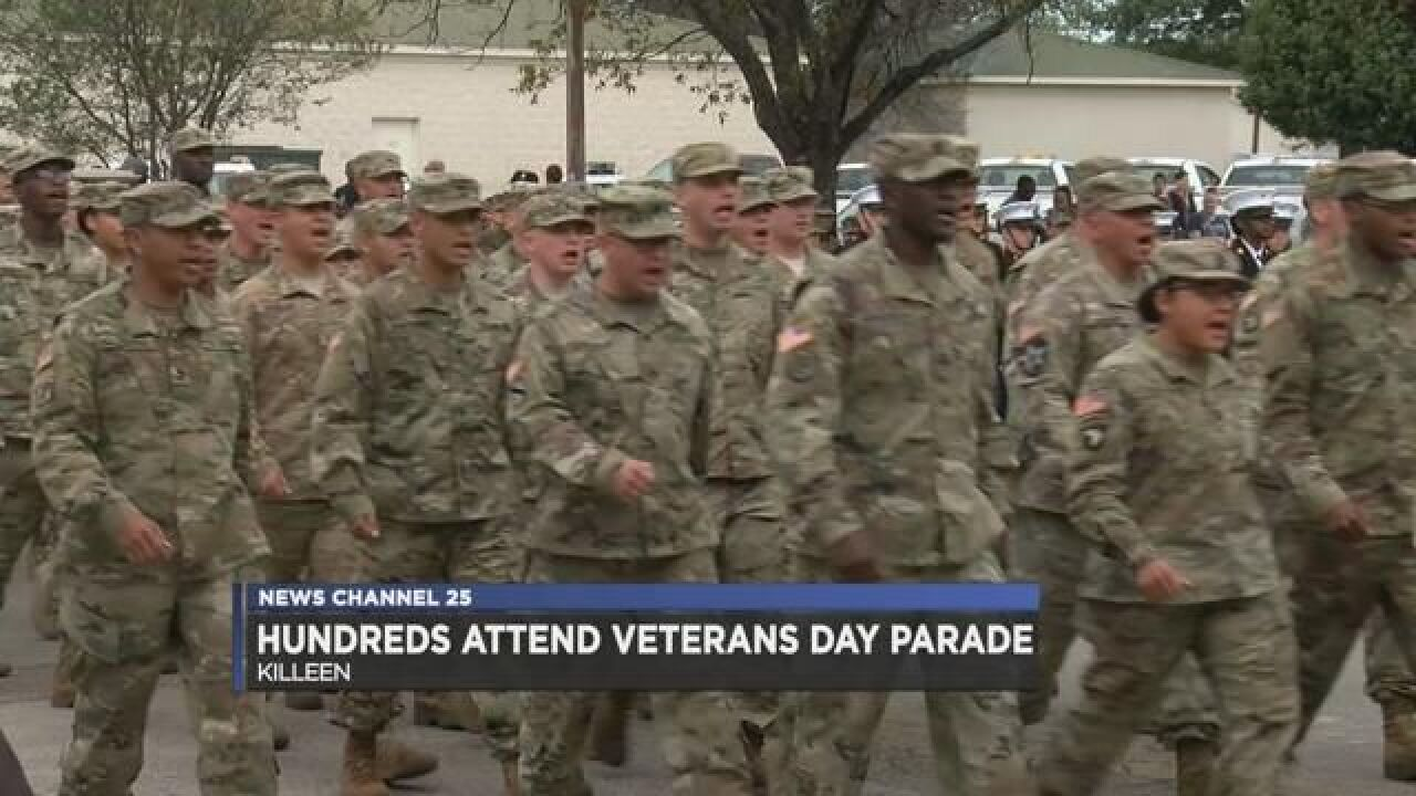 Hundreds attend Killeen Veterans Day Parade