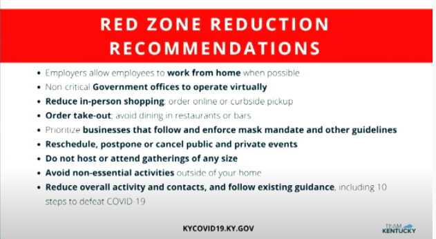 red zone reductions for Kentucky