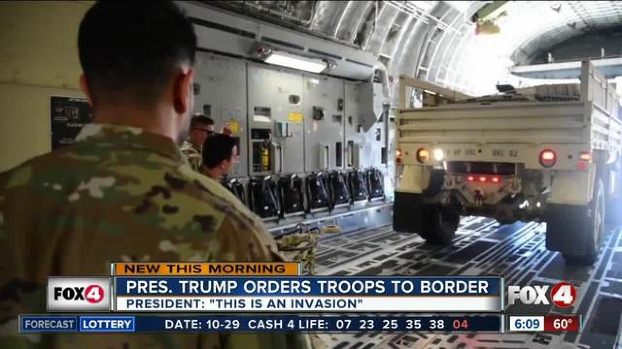 The US is sending 5,000 troops to the border