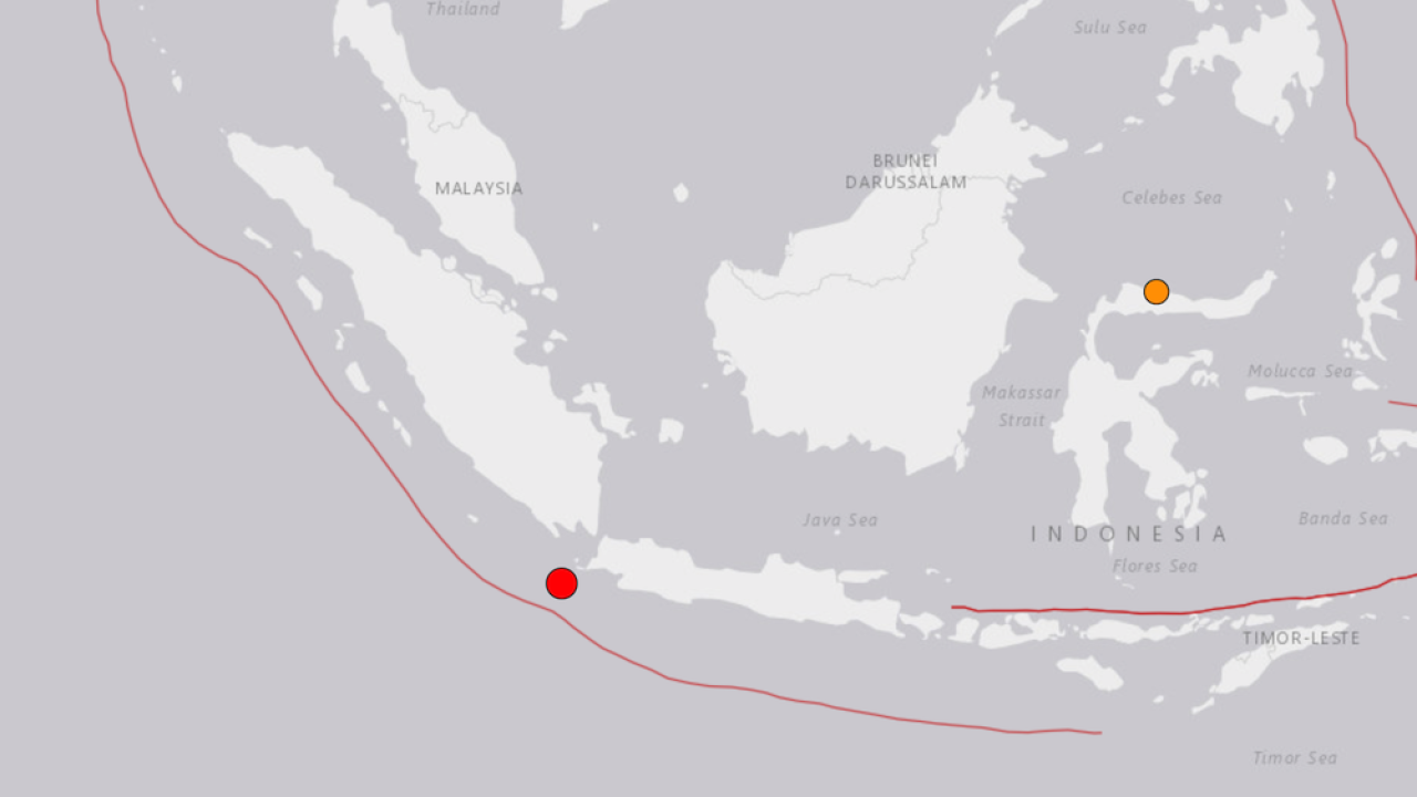 Strong earthquake strikes off the coast of Indonesia