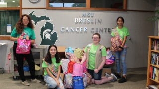 Local Girl Scouts Troop Delivers Care Packages to Patients at Breslin Cancer Center