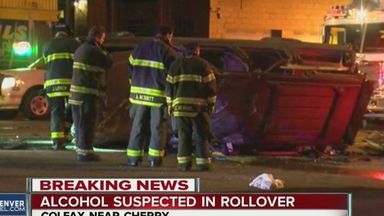 Alcohol suspected in rollover crash on Colfax