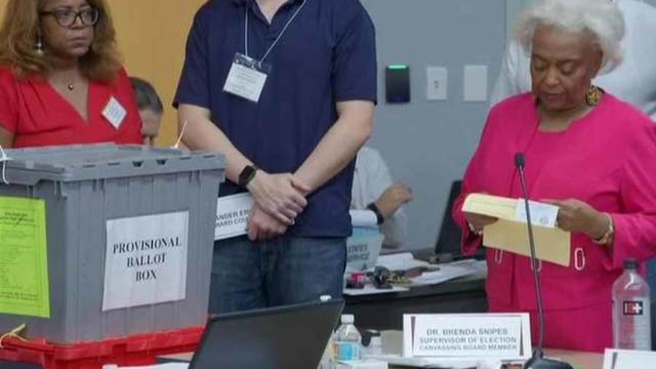 Broward County uploaded Florida recount results 2 minutes late on Thursday