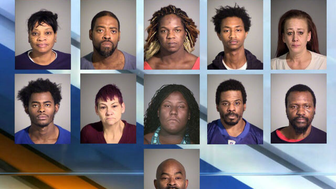 12 arrested, drugs seized in 'Candy Store' bust