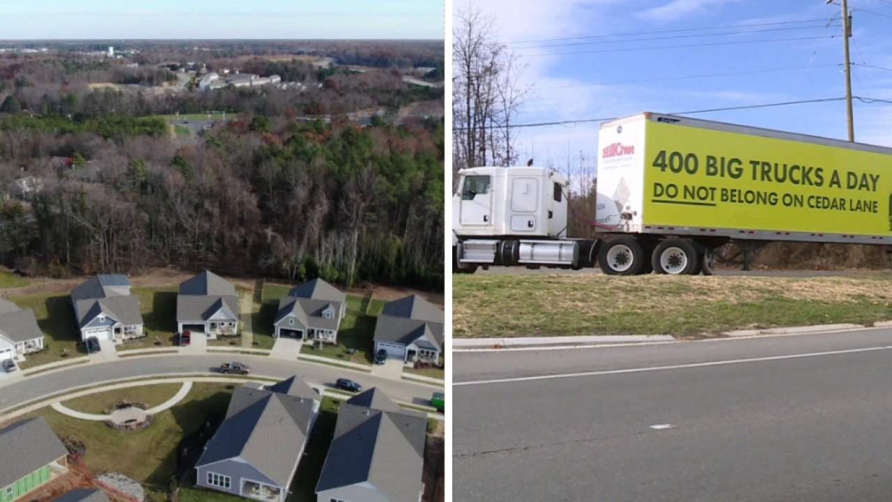 Quiet Hanover community concerned about '400 trucks a day' in neighborhood