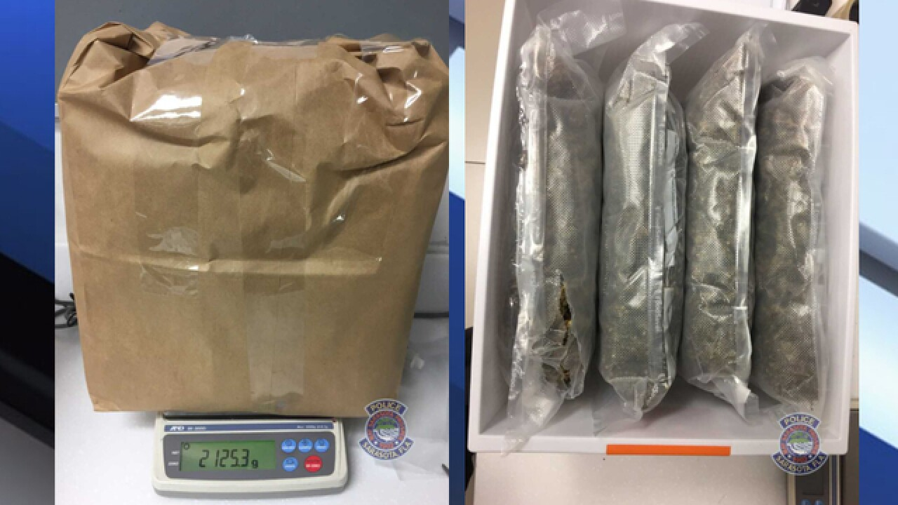 Police: Almost 5 pounds of marijuana found in tote left outside thrift store