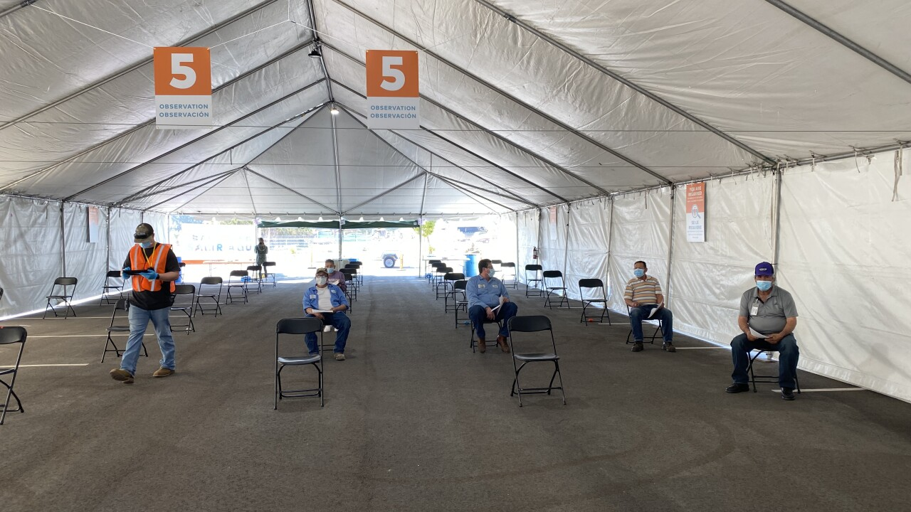 Bolthouse Farms On-Site Vaccination Clinic in Bakersfield.
