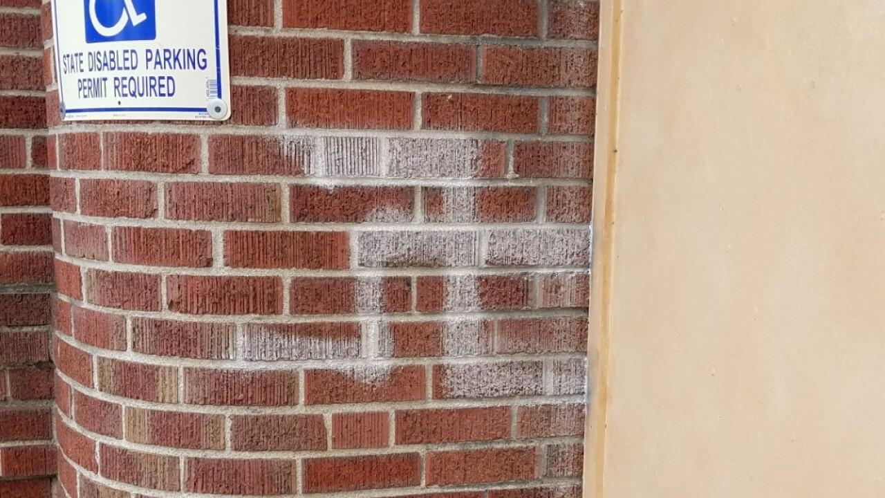 Swastika on Denver synagogue