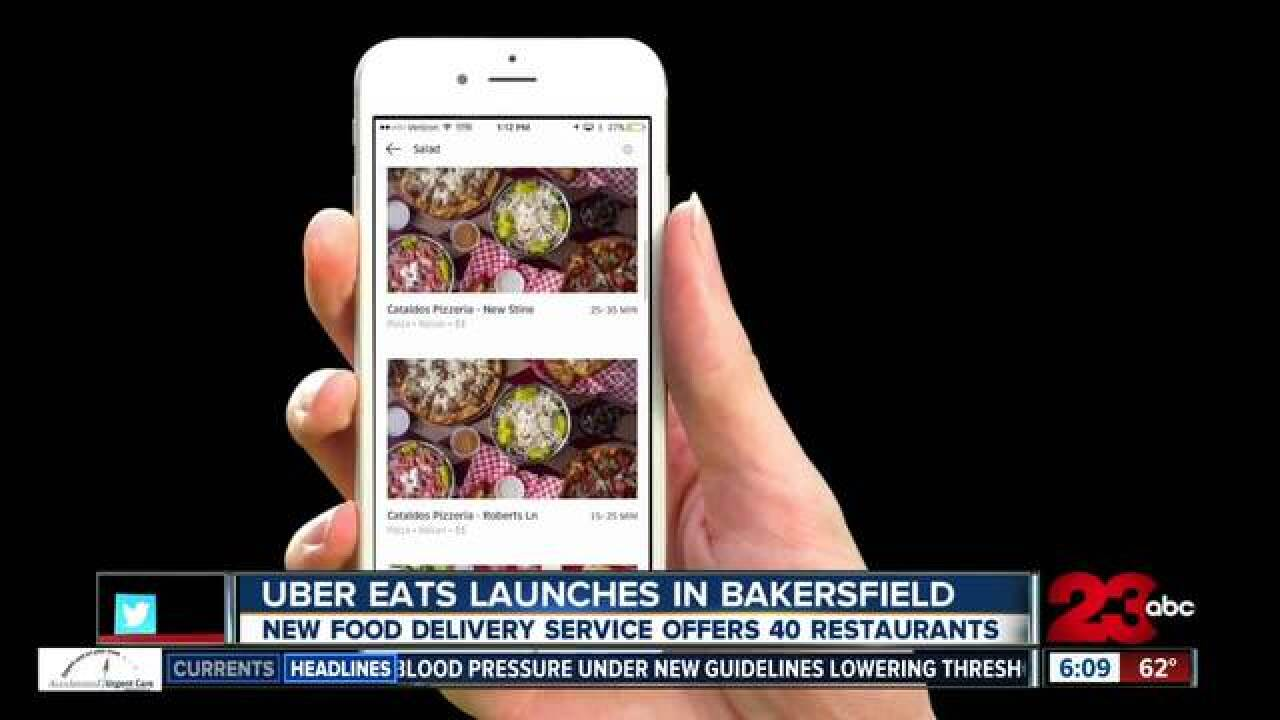 UberEATS officially launches in Bakersfield
