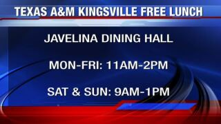 Texas A&M University Kingsville providing daily lunch