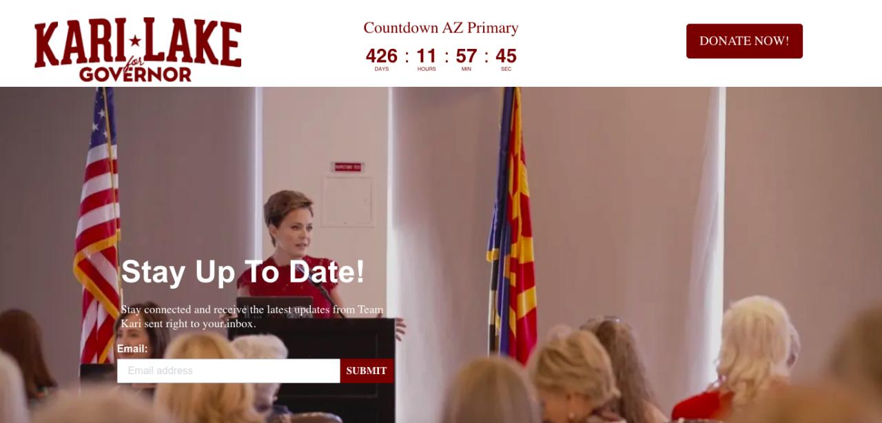 Screenshot from KariLake.com
