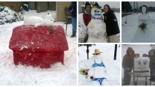 PHOTOS: Creative snowcreatures